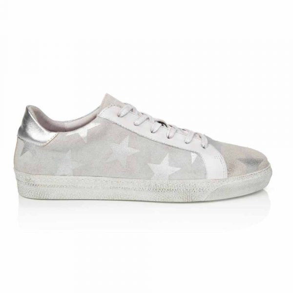 Air & Grace Star Cru trainers with silver star print
