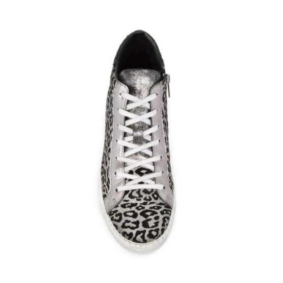 8c2fe41a83b2 Air and Grace: ALTO: PEWTER LEOPARD PRINT LEATHER HIGH TOP TRAINER