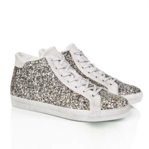 air and grace alto silver high top trainers