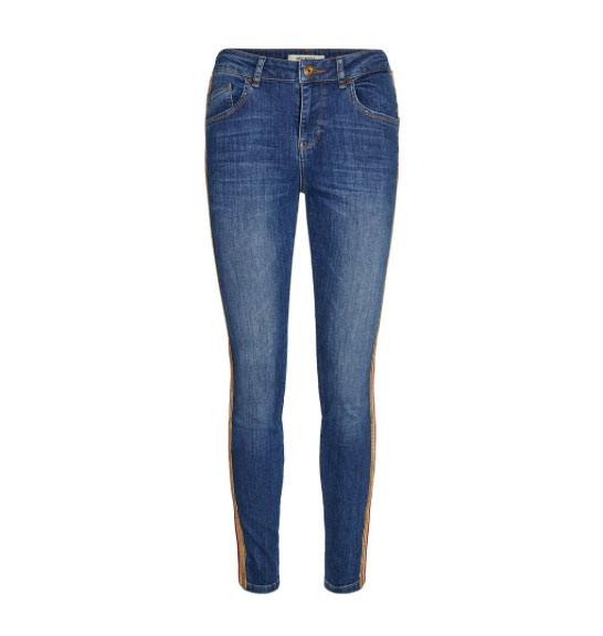 Mos Mosh Blue Carell Jean with contrast band design