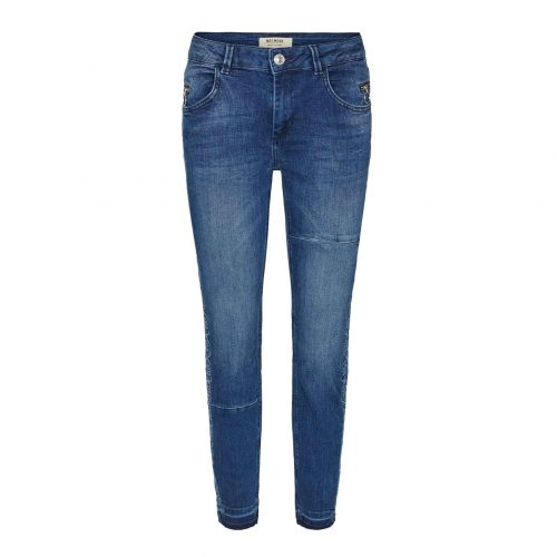 Mos mosg sumner free jean with flower embroidery