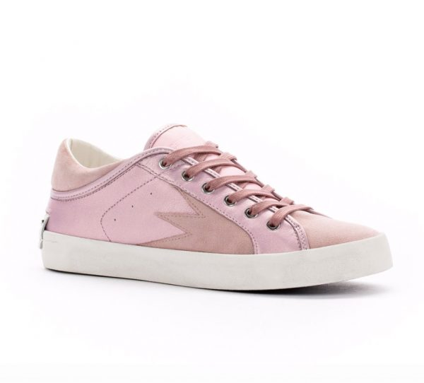 Crime Faith low pink trainers