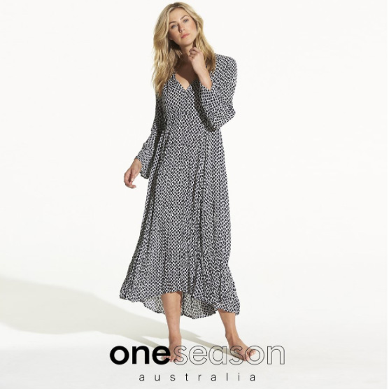 One Season corfu becca dress in ink