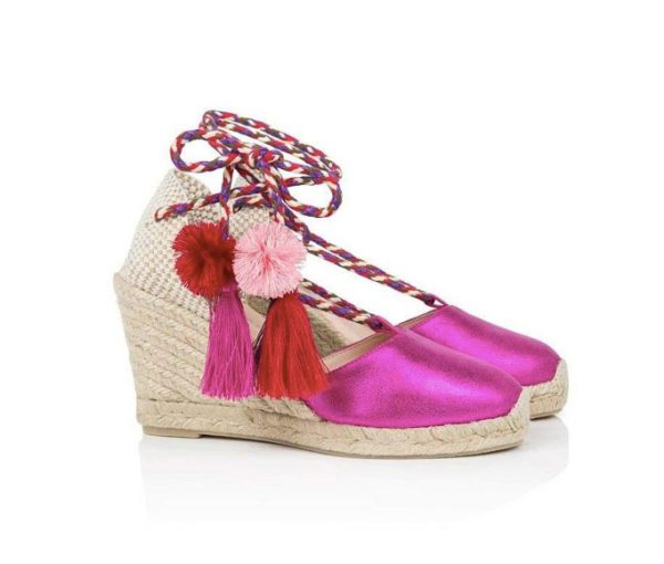 Air and Grace Shimmie Fuchsia Pink Espadrilles