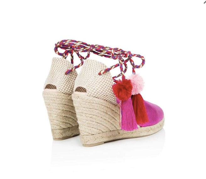 ed680570db52 Air & Grace Shimmie: Fuchsia Pink Espadrille Wedges - Covet