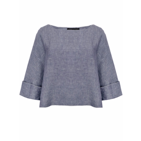 Elemente Clemente Linen Top in denim blue