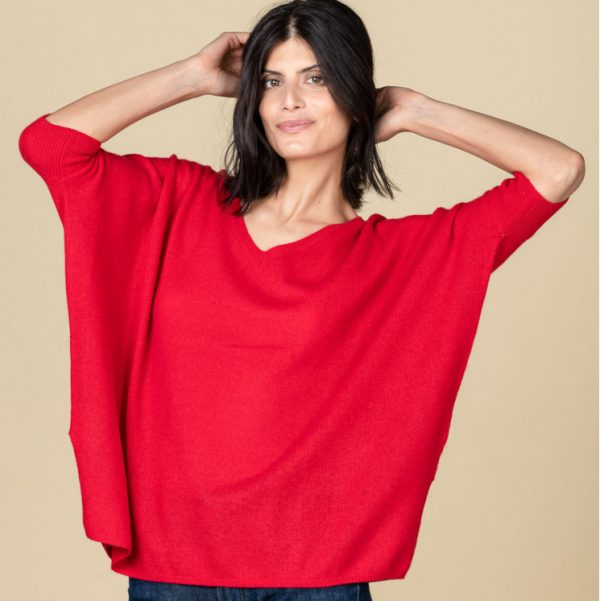 Absolut Cashmere Kate Oversized V-Neck Sweater Chilli