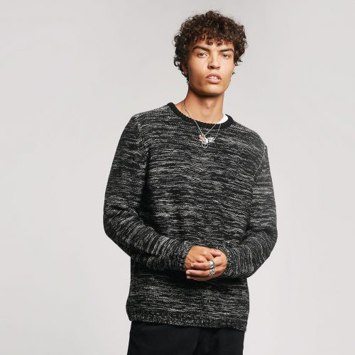 Glitch Merino Jumper Black