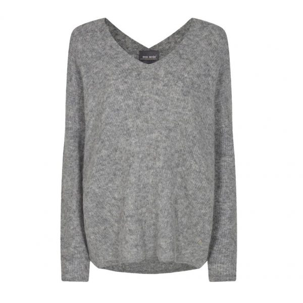 Mos Mosh Thora V-Neck Knit Grey